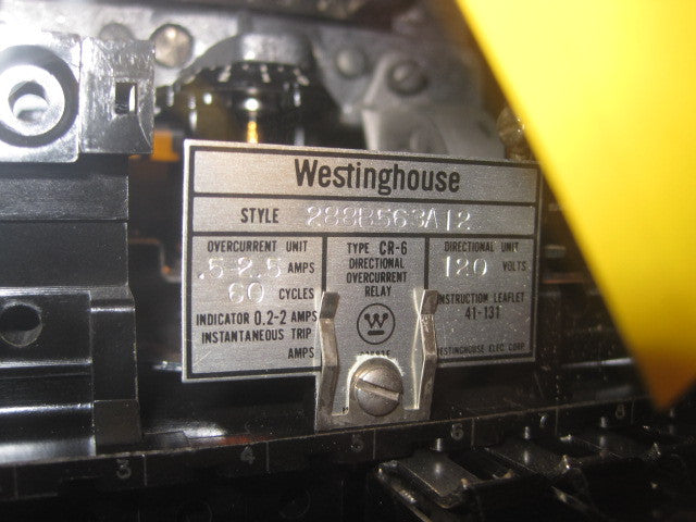 Westinghouse CR-6 Directional Overcurrent Relay, PN: 288B563A12