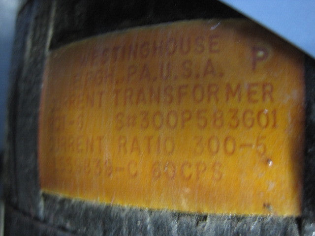 Westinghouse RCT-6 CT, PN: 300P583G01