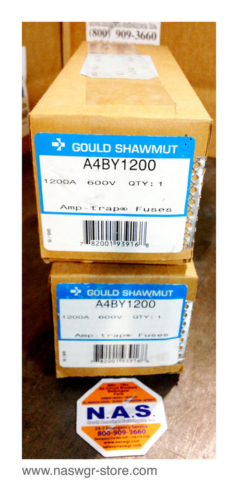 A4BY1200 ~ Gould Shawmut A4BY1200 Fuse ~ Unused Surplus in Box