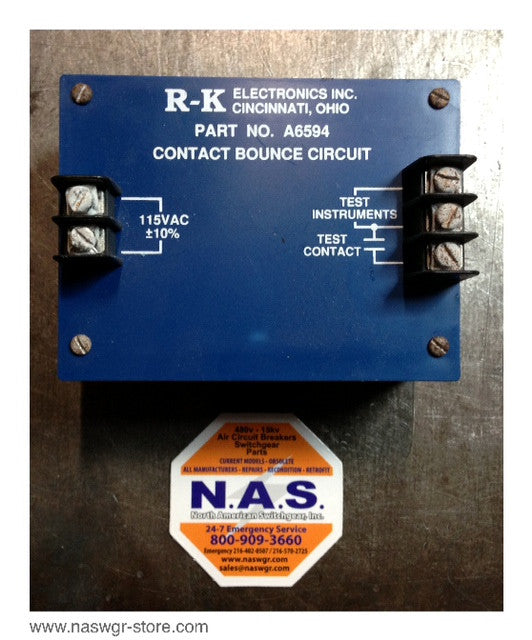 A6594 , R-K Electronics Inc. A6594 Contact Bounce Circuit , 115 VAC , Test Instruments , Test Contact , PN: A6594