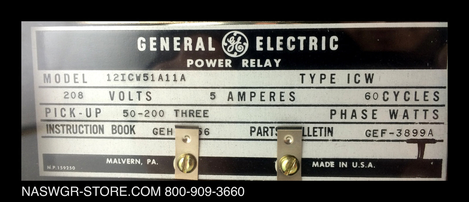 12ICW51A11A ~ GE 12ICW51A11A Power Relay