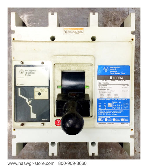 CRD316TW ~ Westinghouse CRD316TW Circuit Breaker 1200 Amp Trip ~ RS31600T 16RS12T ~ 1495D80G34