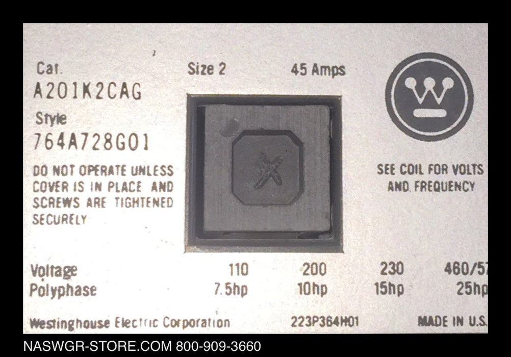 A201K2CAG ~ Westinghouse A201K2CAG Voltage Polyphase