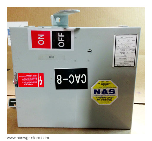 AC361RGU ~ GE AC361RGU Busway Switch 30 Amps 3 Phase 3 Wire Ground Stab ~ PN: AC361-RGU