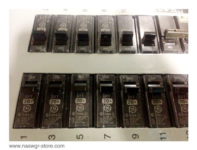 AQF3422MT ~ GE AQF3422MT A Series Panelboard Main Lug NEMA 1 Enclosure 225 Amps 208Y/120 Volts 3P 4W Top Fed