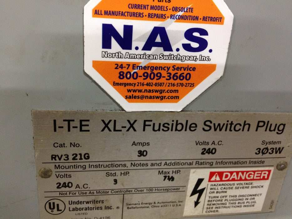 ITE RV321G Fusible Bus Plug ~ 30 Amp
