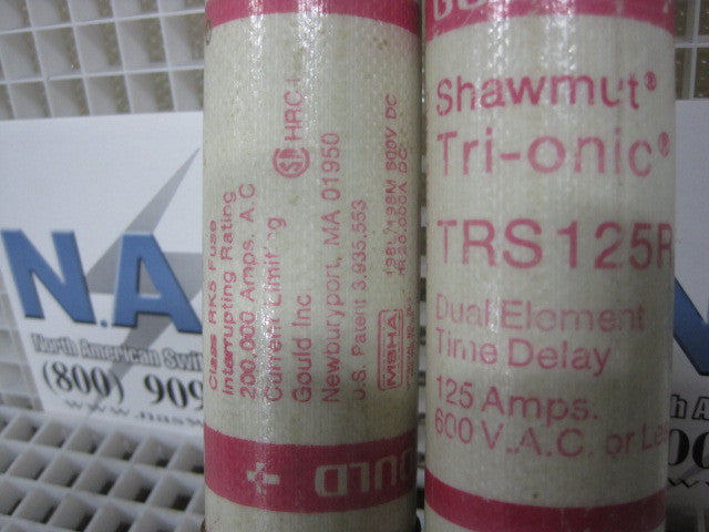 TRS125R , Gould Shawmut Fuse Type: TRS125R