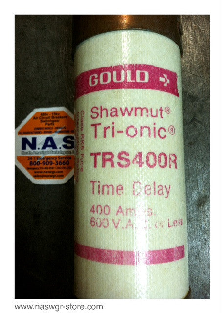 TRS400R , Gould Shawmut Tri-onic Time-Delay Fuse , *unused Surpus* , 400 amps , 600VAC , PN: TRS400R