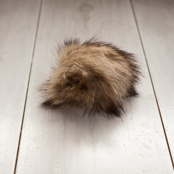 RED FOX Upcycled Fur Pom