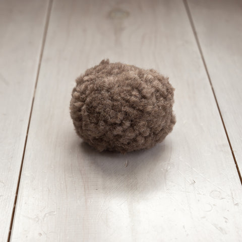 WALNUT Recycled Wool Pom