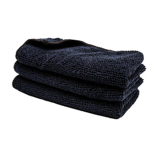 "Black 12"" x 12"" Microfiber Towel"