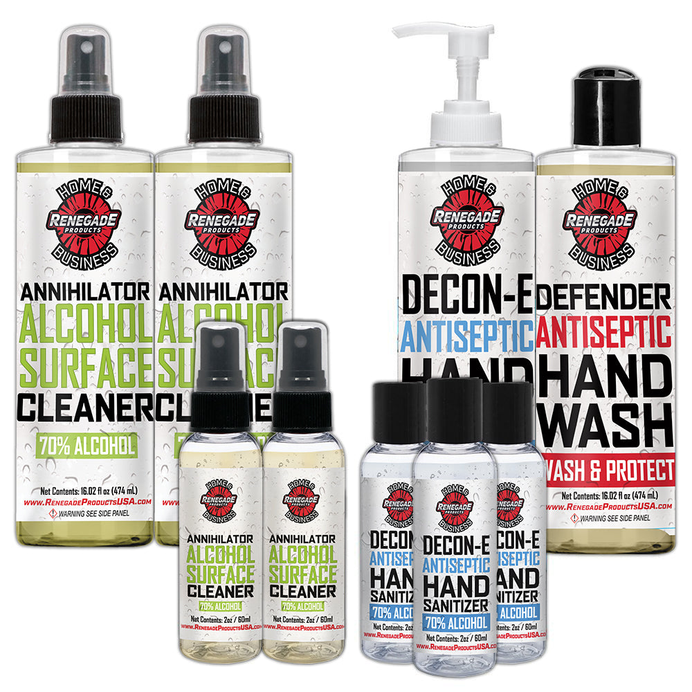 Cleaner and Sanitizer Travel Bundle