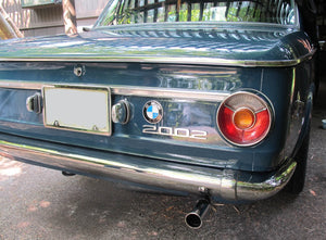 BMW 1600/2002 Short Stainless Steel Rear Bumper