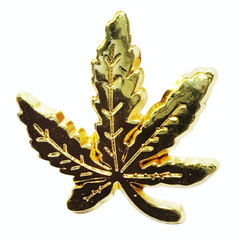 Gold Marijuana Leaf Pin