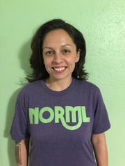 Purple and Green NORML T-Shirt