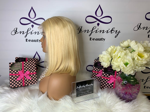 Blonde Bob Lace Wig 100% Human Hair