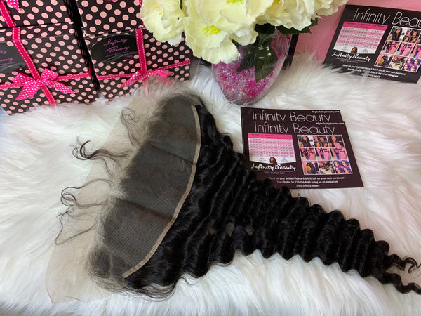 Mink Tropical Deep Wave Lace Frontal-100% Human Hair