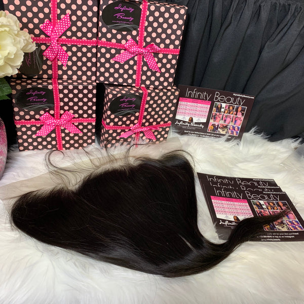 Straight 100% Virgin Human Hair Lace Frontal