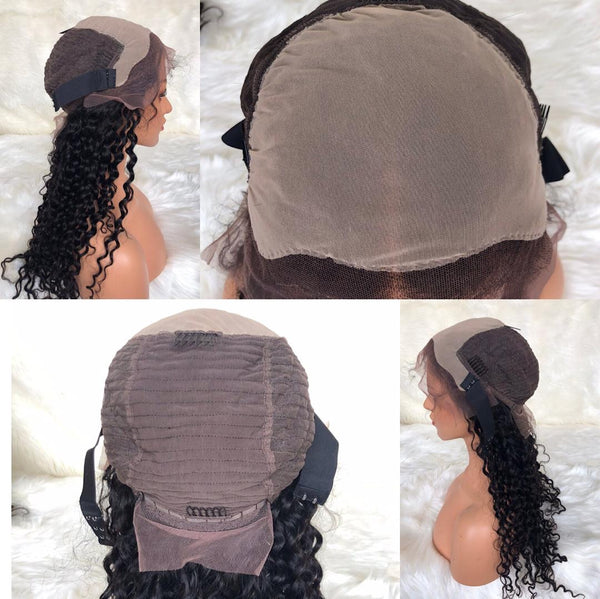 Fake Scalp Lace Wigs 100% Virgin Human Hair