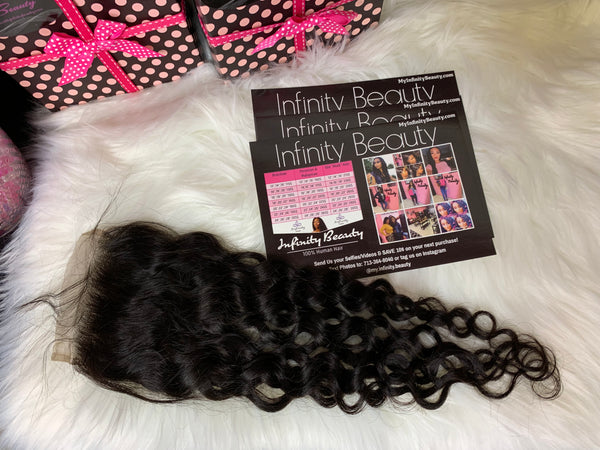 Water Wave 100% Virgin Human Hair Lace Closure