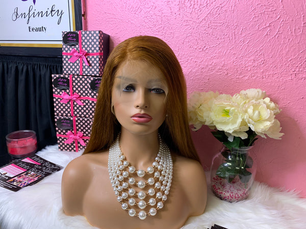 Honey Brown lace front wig