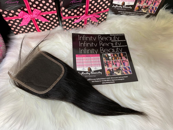 Brazilian Straight Closure- 100% Virgin Hair
