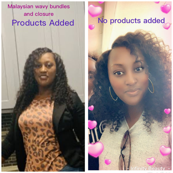 3 Malaysian Wavy Virgin Hair Bundles
