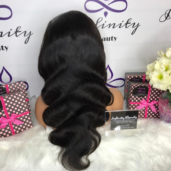 Body Wave 100% Virgin Human Hair Lace Wig