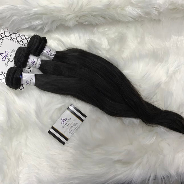 Straight Lace Frontal & 2 Bundles- 100% Virgin Hair