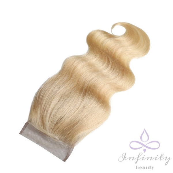 Blonde Body Wave Lace Closure- 100% Human Hair