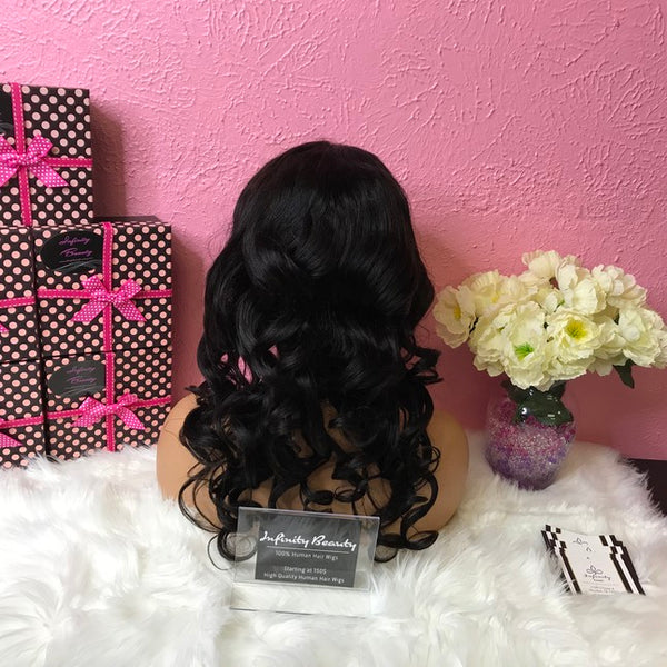 Cambodian Curly 100% Virgin Human Hair Lace Wig