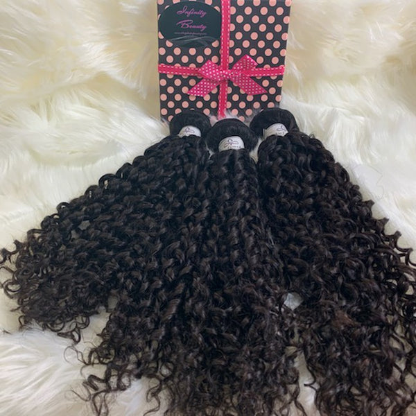 3 Burmese Curly Virgin Human Hair Bundles