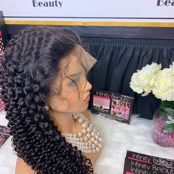 Mongolian Curly 100% Human Hair Lace Wig