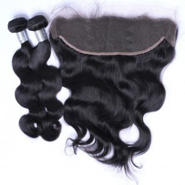 Body Wave Frontal & 2 Bundles- 100% Virgin Hair