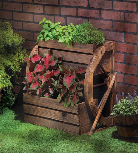 Wagon Wheel Flower Pot