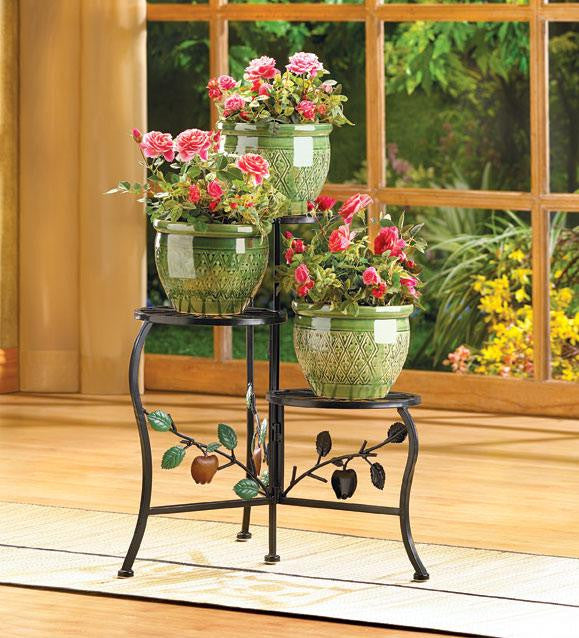Triple Tier Country Plant Stand