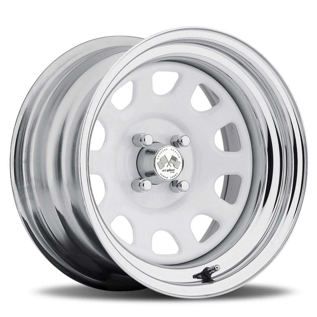 Daytona - White/Chrome Hoop (Series 022WC)