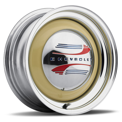 Solid - Chrome Rim/Raw Center (Series 459)