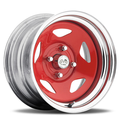 Star - Red Center/Chrome Hoop (Series 021RC)