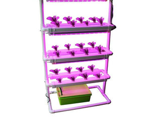 Hydroponics System With Grow Light - 24 Sites