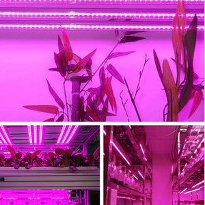 10x LED Grow Light Full Spectrum Tubes