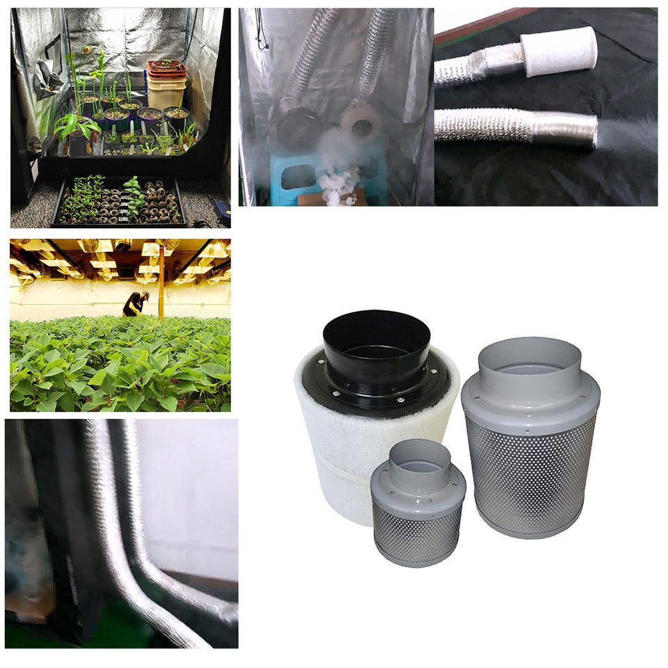 4 Inch Centrifugal Activated Carbon Air Filter Fan For Grow Tent - Herboponics - Cutting Edge Hydroponics Setup For Everyone