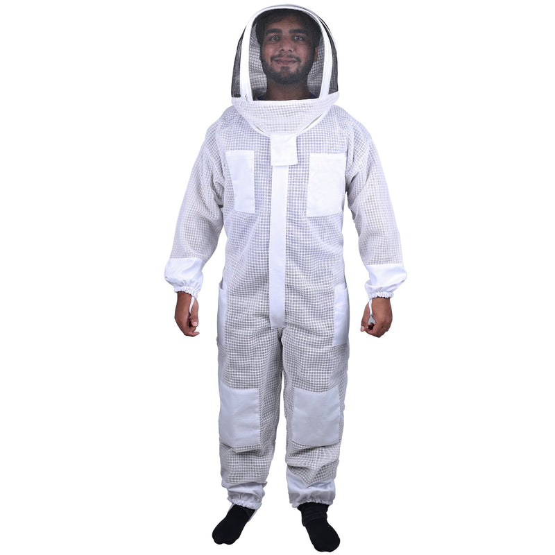 Beekeeping Starter Kit For Beekeepers With OZ Bee 3 Layer Mesh Ventilated Hoodie Style Suit Protective Gear