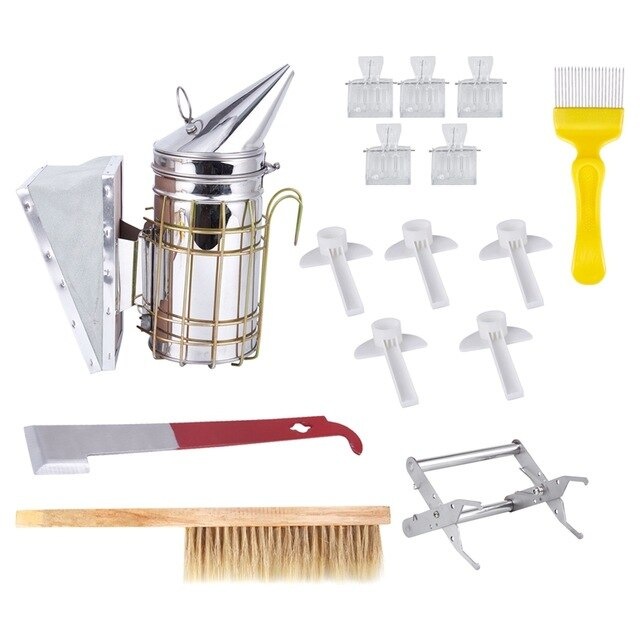 1 set Beekeeping Tools Kit,Bee Hive Smoker, Beekeeping Accessory -Beekeeping Tool