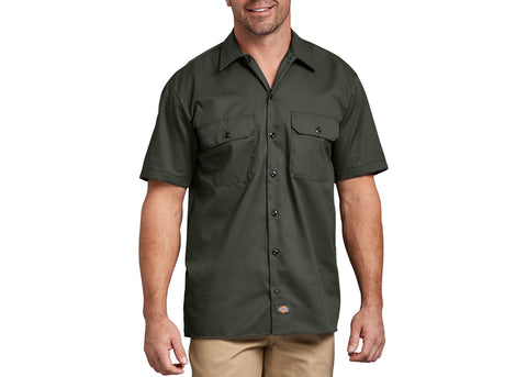 Dickies Short Sleeve Work Shirt Olive Green