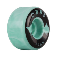 Welcome Orbs Specters Swirl Teal/White 99a 52mm