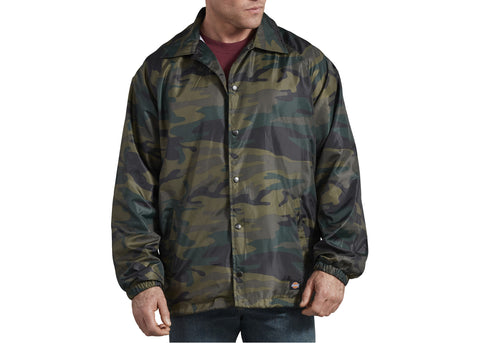 Dickies Camo Coaches Jacket Hunter Green Camo