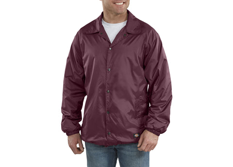 Dickies Snap Front Nylon Jacket Burgundy