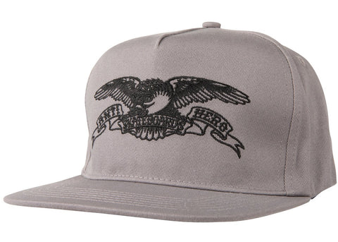 AntiHero Basic Eagle Snapback Grey Black