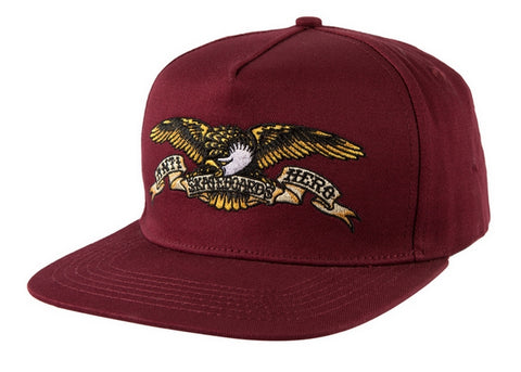 AntiHero Eagle Snapback Dark Red